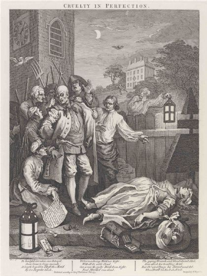 Hogarth, William: The Third Stage of Cruelty - Cruelty in Perfection . Fine Art Print/Poster (4797)